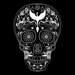 Dia de Muertos Tattoo Skull Day Dead inverse Full