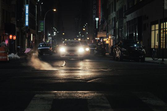Night Scene in New York