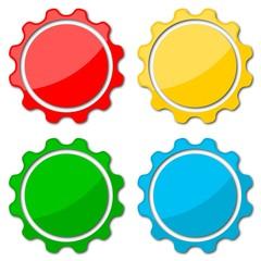 Blank badge shapes set
