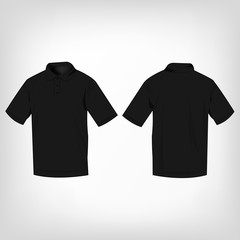 Black polo shirt isolated vector