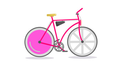 Vector. Retro bicycle on a white background.