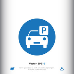 Car parking icon for web and mobile