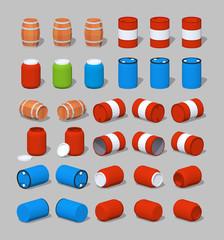 Cube World. Barrels