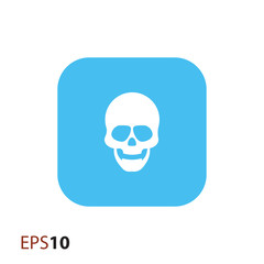 Skull vector icon for web and mobile
