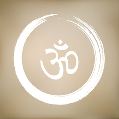 Vector Om Symbol in a Zen Circle