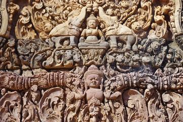 The Banteay Srei (srey) temple near Angkor, Cambodia