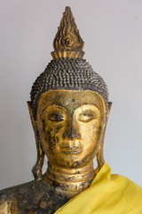 The image of Buddha at Chaiya Temple, The buddhist center of Sri