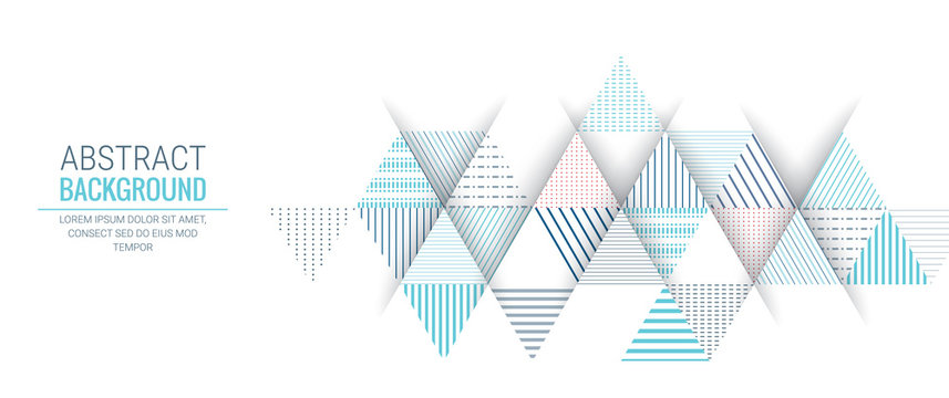 abstract blue triangle line stripe pattern background