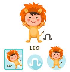 leo vector collection. zodiac signs