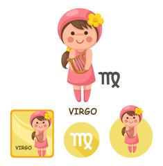 virgo vector collection. zodiac signs