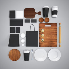 mockup of food and kitchen.3d