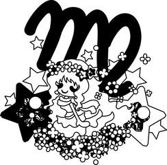 Illustration reflecting the image of Virgo of the horoscope.
