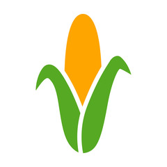 Ear of corn / maize flat color icon for food apps and websites