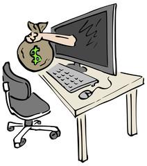 Computer criminaliteit diefstal via internet