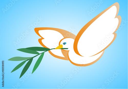 Simbolo di pace con colomba e ulivo immagini e for Scarica clipart