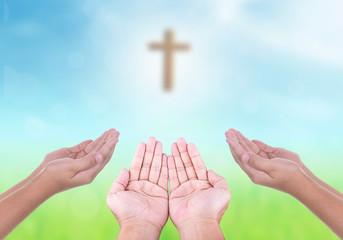 hands with Cross
