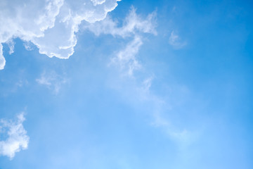 Abstract White clouds on a blue sky background