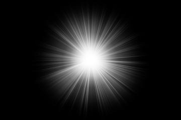 white lighting flare