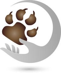Hand und Pfote, Hunde, Logo
