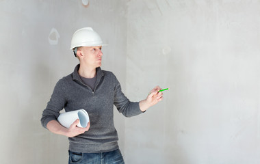 An engineer on construction site