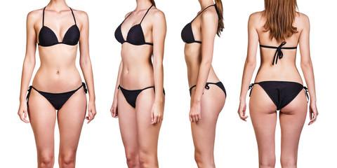 Set of beautiful woman in bikini