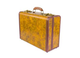 Retro suitcase of genuine leather