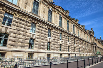 PARIS, FRANCE - 02 SEPTEMBER, 2015: Building of Louvre in Paris, France.The museum is one of the world's largest museums and a historic monument. A central landmark of Paris.