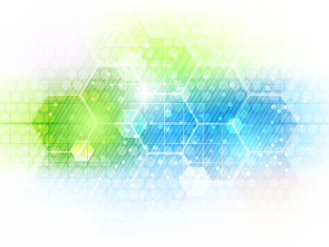 Abstract vector future business technology background with hexagon pattern.