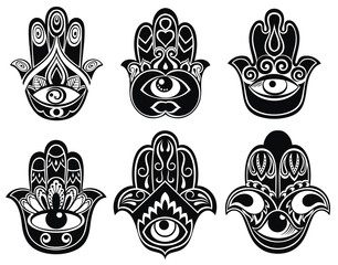 Set of Hamsa hands