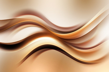 Photo sur Plexiglas Fractal waves Abstract Gold Wave Design Background