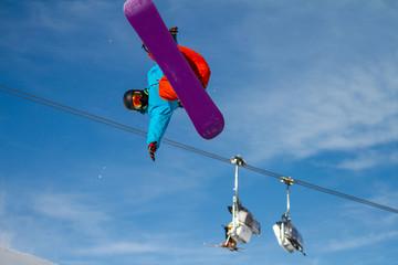 Fototapete - snowboard evolution