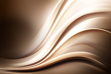 Abstract Brown Gold Wave Design Background