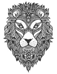 Lion. Ethnic ornament. Vector illustration