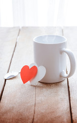 coffee and red heart