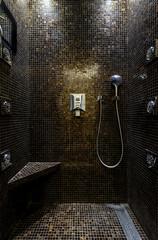 Modern shower in the hotel