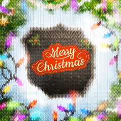 Christmas template with label. EPS 10