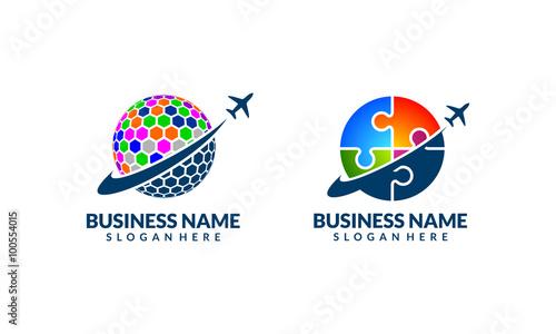 Global Travel And Tour Vector Logo Design 5