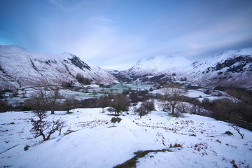 Lake District Mountains in Winter.
