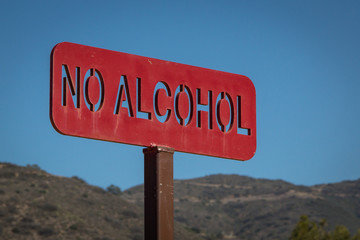 Schild Alkoholverbot