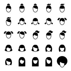 Female Haircut Icons