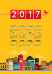 calendar cityscape
