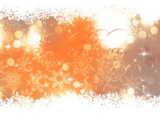 Orange Christmas Background. EPS 10