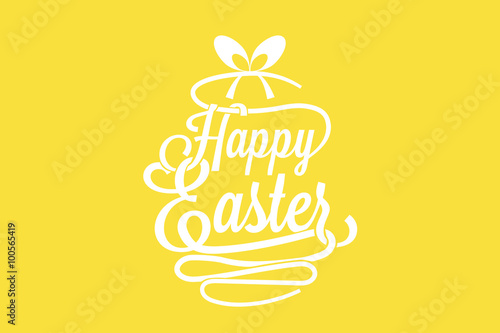 Happy easter greeting card with calligraphic words and egg vector happy easter greeting card with calligraphic words and egg vector m4hsunfo