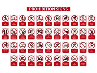 señales de prohibicion