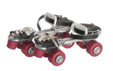 Roller skate / Old style roller skate on white background.