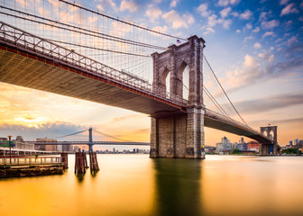 Printed kitchen splashbacks Brooklyn Bridge Brooklyn Bridge in the Morning in New York City, USA.