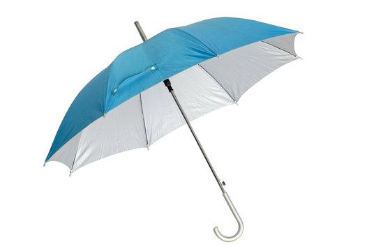 Blue umbrella / Blue umbrella isolated on white background.