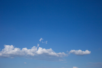 blue sky in the clear sky day image background .