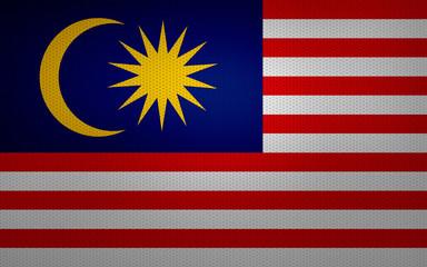 Closeup of Malaysia flag