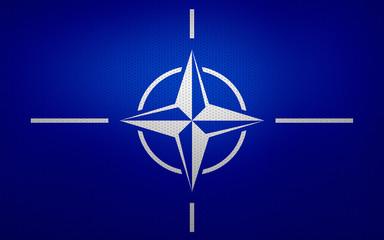 Closeup of NATO flag